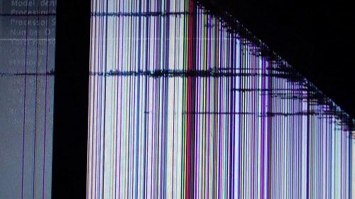 Poškozená obrazovka v notebooku