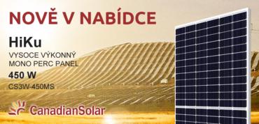Nově v nabídce solární panel Canadian Solar CS3W-450MS 450 Wp