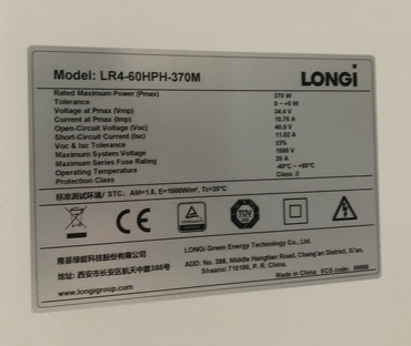Longi LR4-60HPH 370 Wp