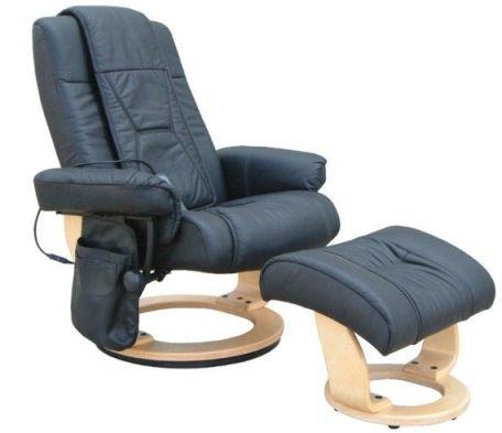 Relaxační křeslo Genf - černé provedení