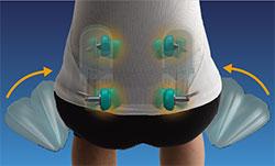 Inada 3S - masáž spodní části těla ( bedra )