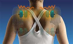 masážní křesla s masáží krku a trapéz