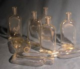 láhev na kultury Roux 250 ml s hrdlem uprostřed