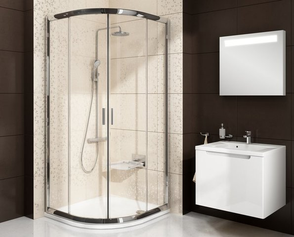 Sprchový kout BLCP4 90 Satin + Transparent