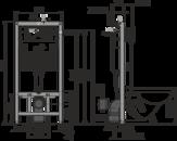Alcaplast AM101/1120 Sádromodul - Předstěnový instalační systém pro suchou instalaci do sádrokartonu