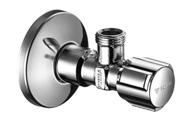 "Schell rohový vřetenový ventil  chrom s růžicí 1/2"" x 3/8 - bez filtru"
