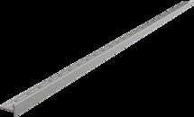 Nerezová lišta pro spádované podlahy - pravá, tl.10mm, MAT