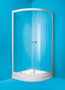 Sprchový kout MADRID 90x90 cm bílý/matné sklo, bez vaničky