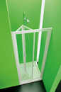 Sprchové dveře DOMINO 90-97x185cm, výplň mat. polystyrol, rám bílý plast