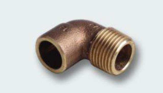 Koleno, 4092 G, 22 x 3/4, červený bronz