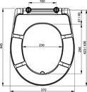 Záchodové sedátko duroplast, bílá A601