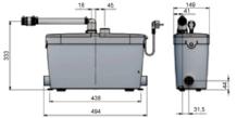 SANIACCESS Pump sanitární čerpadlo pro koupelnu (bez WC) či kuchyni.