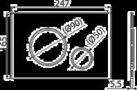 Ovládací tlačítko pro předstěnové instalační systémy bílá/chrom lesk