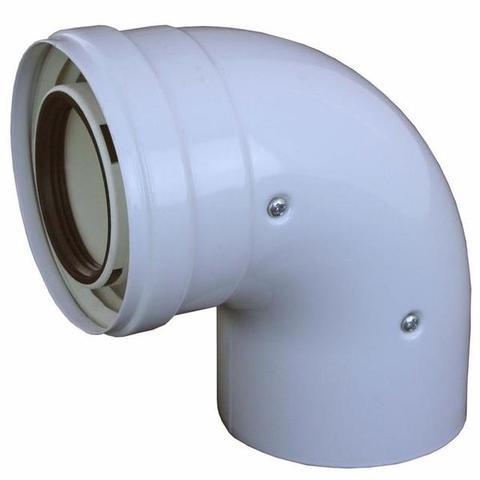 Koaxialní koleno 60/100 - 90st,-A2008008 kondenz