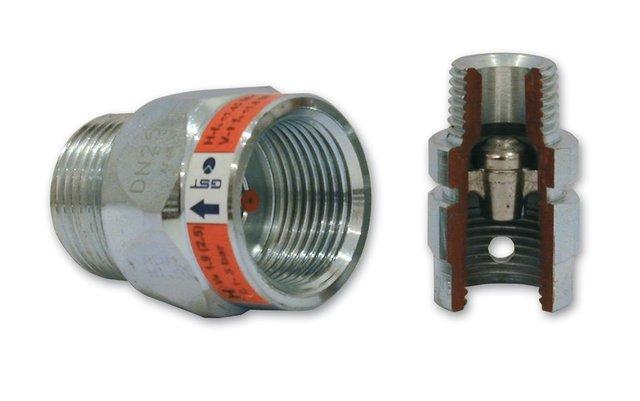 Bezpečnostní nadprůtoková pojistka GST typ L - FM DN15 2,5 m3/h