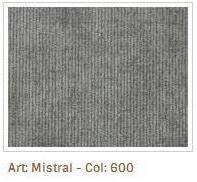 Šedá látka Mistral 600