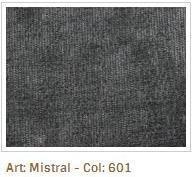 Šedá látka Mistral 601