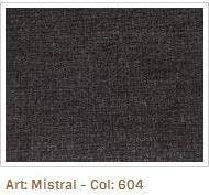 Šedočerná látka Mistral 604