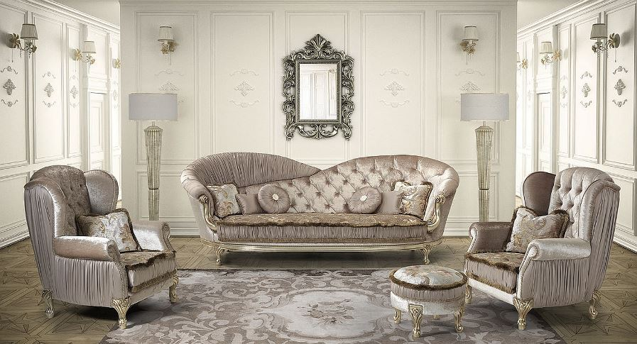 obývací pokoj v zámeckém stylu