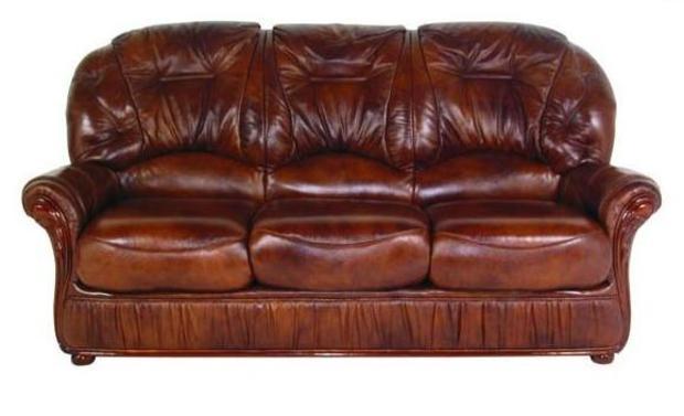Klasická kožená sedací souprava Deborah