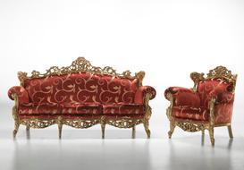 Barokní sedací souprava Fillandie