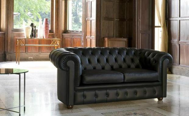 Luxusní kožená sedací souprava Chester