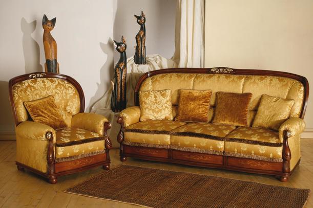 Luxusní sedací souprava Giada, masivní dřevěný rám
