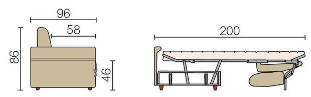 Rozkládací sedací souprava Auriga