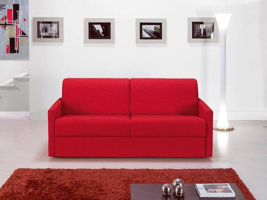 Červená malá rozkládací sedačka