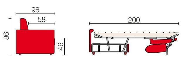 Rozkládací sedací souprava Lira