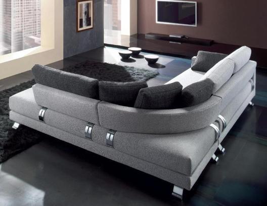 Luxusní sedací souprava Philadelphia C3 v šedé barvě