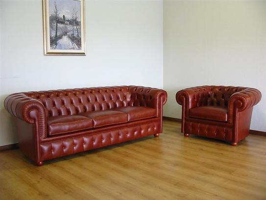 Kožená sedací souprava lususní pro kanceláře