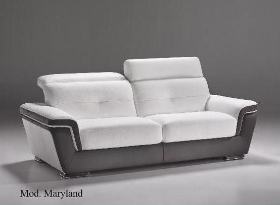 Kožená sedací souprava Maryland, kůže, dvoubarevné provedení