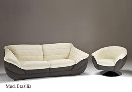 Luxusní kožená sedací souprava Brasilia