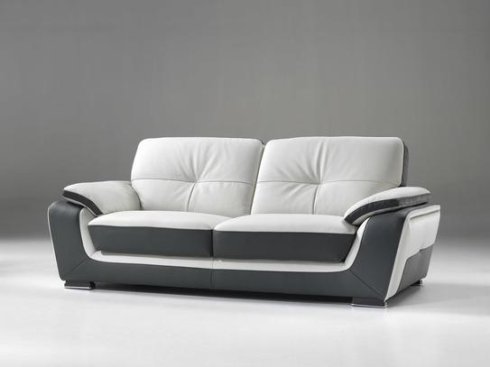 Dvoubarevná moderní kožená sedací souprava