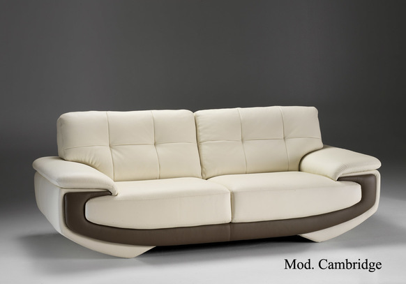 Béžová luxusní kožená sedací souprava