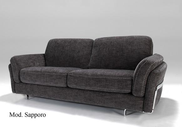 Moderní sedací souprava Sapporo, černo-šedá látka