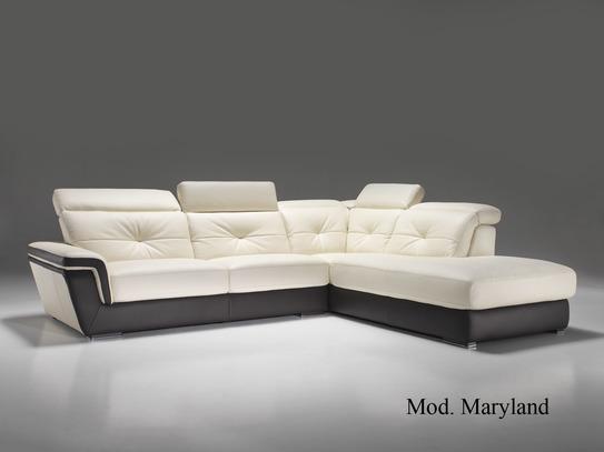 Pohodlná rohová kožená sedací souprava Maryland