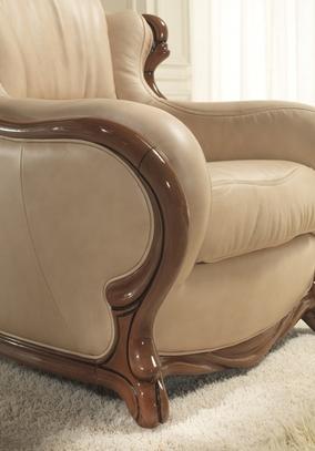 Rustikální kožená sedací souprava Exodus