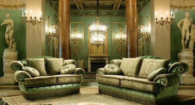 Sedací souprava Anastasia luxusní zelenohnědé provedení v látce