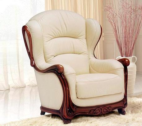 Klasická kožená sedací souprava Roger