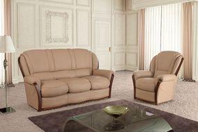 Klasická kožená sedací souprava Diva