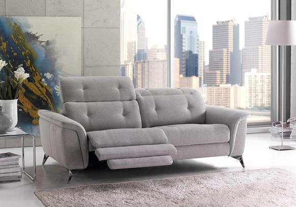 Luxusní sedací souprava Azur v šedém provedení
