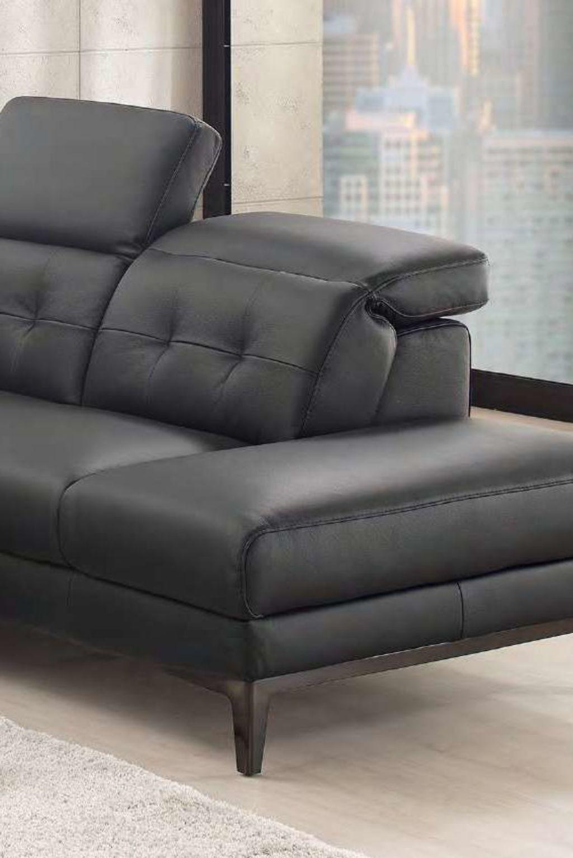 Moderní rohová kožená sedací souprava Ritzi