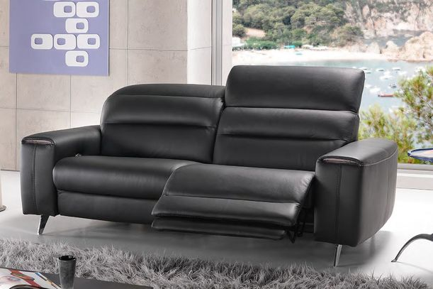 Luxusní kožená sedací souprava Lalik v černé, červené a bílé kombinaci