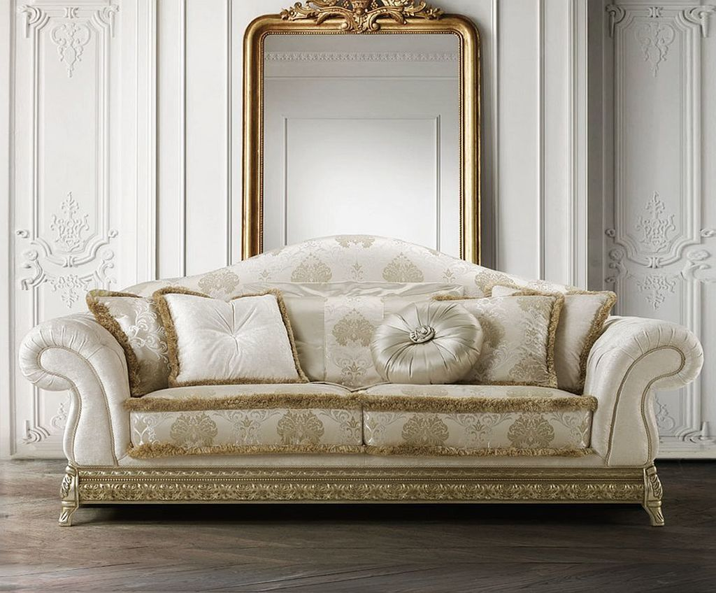Luxusní sedací souprava Anastasia v klasicistním látkovém provedení