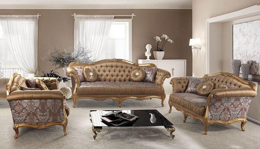 Luxusní sedací souprava Romantik v látkovém provedení