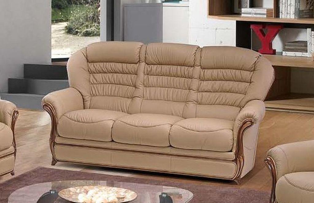 Klasická kožená sedací souprava Malaga