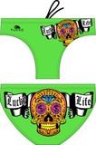 Turbo pánské plavky Money skull green