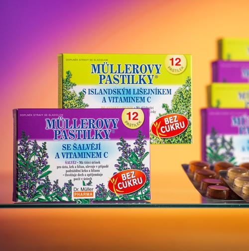 НОВИНКА – Müllerovy pastilky® без сахара